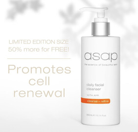 ASAP AHA Cleanser 300ml Pump - 50% more FREE